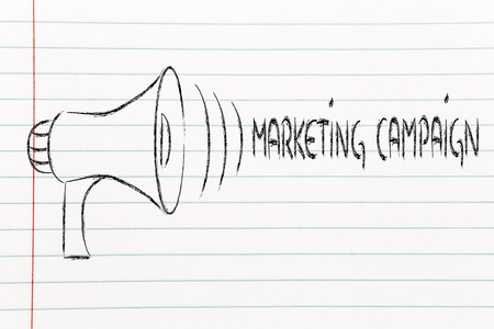 loudhailer: megaphone design, metaphor of sharing and spreading your message