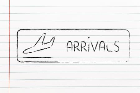 airport terminal arrivals sign