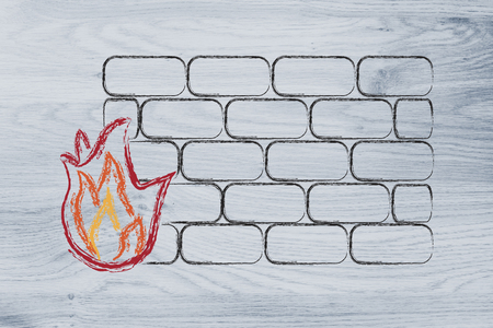 conceptual design with firewall and security of data on the web
