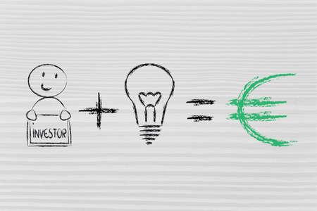 investors: elements of business success: good investors and good ideas (euro)