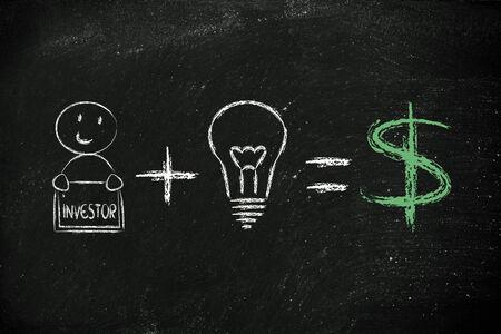 investors: elements of business success: good investors and good ideas (dollar)
