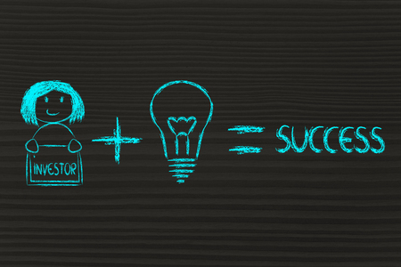 investor: formula for business success: good ideas and skilled investor, girl version