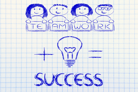 equal opportunity: business success: winning ideas and teamwork (mixed gender version)