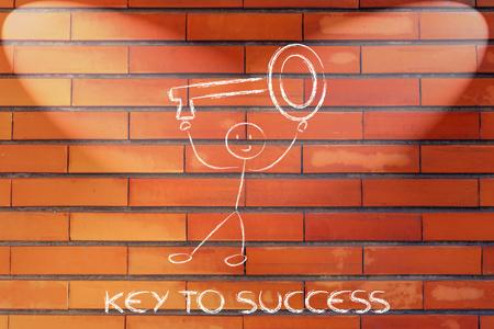 przewymiarowany: zabawny człowiek posiadający klucz ponadgabarytowych