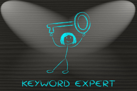 oversized: keyword expert, funny girl holding oversized key