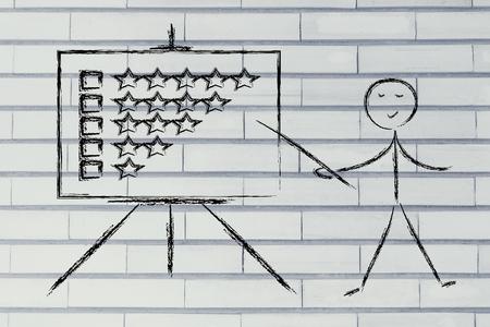 teacher or executive explaining about feedback photo