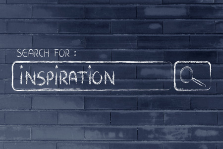 ebusiness: search for inspiration, design of internet search bar on unusual surface