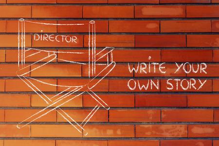 creëer je eigen verhaal, zijn de regisseur van je eigen leven