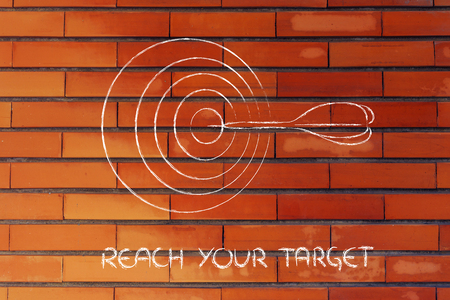 concept of choosing the right target market in business photo