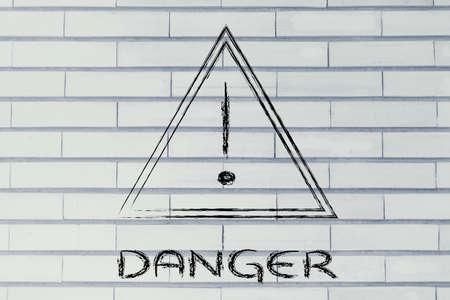 alt: danger ahed, road sign illustration