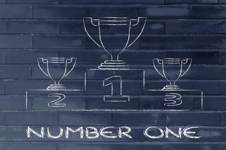 numero uno: diseño conceptual acerca de alcanzar el éxito y ser el número uno