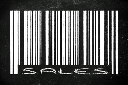 product  bar code design with sale or marketing promotional offer photo