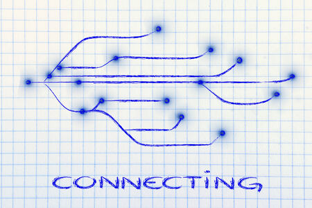 established: conceptual illustration of internet and connectivity Stock Photo