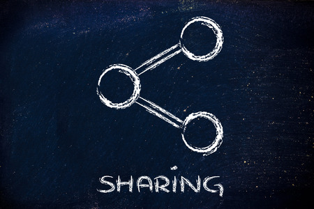 illustration of the Share symbol used in websites and social media illustration