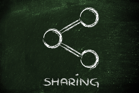 influencer: illustration of the Share symbol used in websites and social media Stock Photo