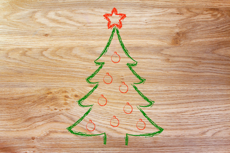december 25th: Merry Christmas, tree with decorations
