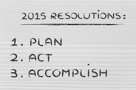 business resolutions and goals for the new year 2015 Stock Photo