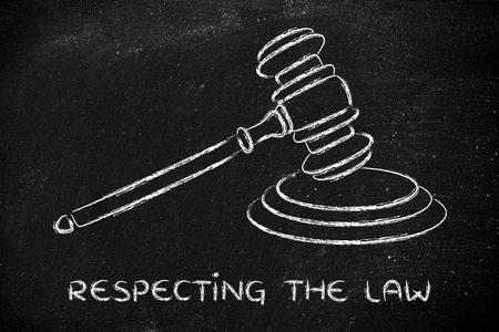 respecting: judges gavel design, concept of respecting the law Stock Photo