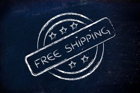 initiative: logo for an initiative of free shipping Stock Photo
