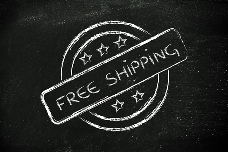 initiative: icon for an initiative of free shipping Stock Photo