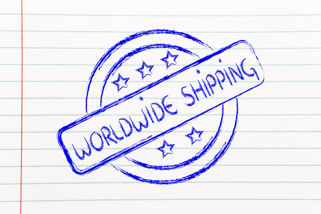 initiative: icon for an initiative of worldwide shipping Stock Photo