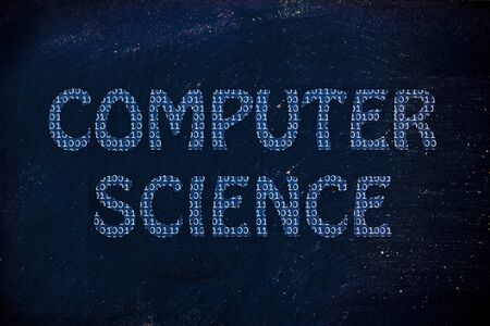computer science: the word computer science made of binary code Stock Photo