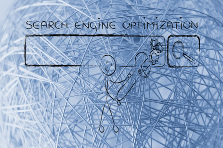 pageviews: conceptual design about search engine optimization