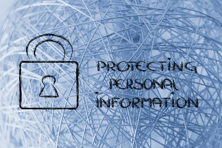 personal information: lock on internet security: privacy and personal information on the web