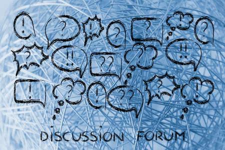 forums: conceptual design of internet chats, forums, communities