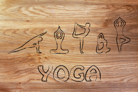 asanas: mind body and soul design inspired by yoga, with asanas (yoga poses)