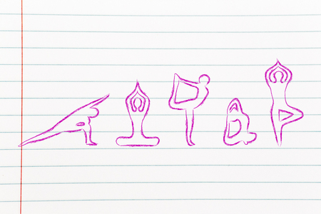 mind body: mind body and soul design inspired by yoga, with asanas (yoga poses)
