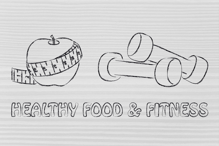 mind body: fitness lifestyle and healthy food, taking care of mind body and soul