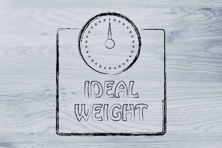 lb: weight loss and reaching the ideal weight, scale illustration