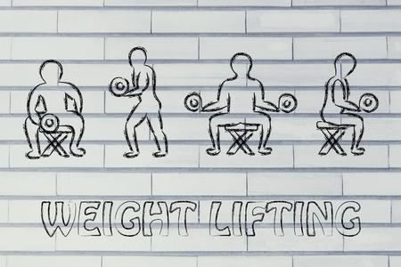 sculpt: fitness lifestyle: man character lifting weights