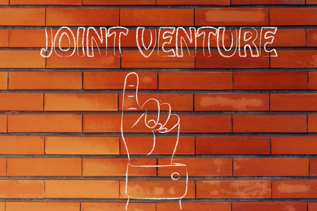 reach customers: hand pointing up at the concept of Joint Venture