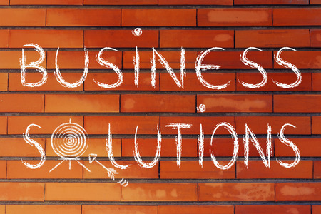 personalised: concept of choosing the best business solution, target illustration Stock Photo