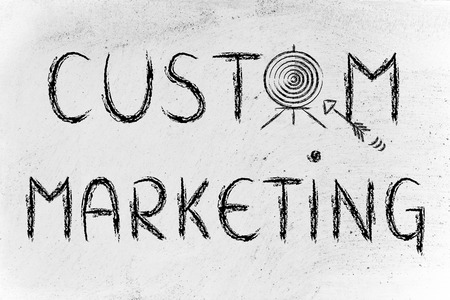 personalised: concept of custom marketing, target illustration