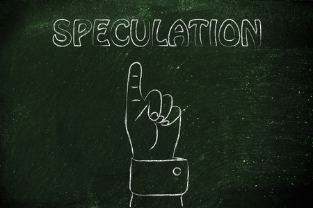 speculation: hand pointing at the concept of Speculation