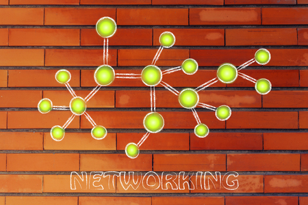 influencer: concept of networking and social media content sharing Stock Photo