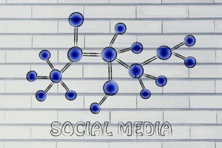 follower: concept of networking and social media content sharing Stock Photo