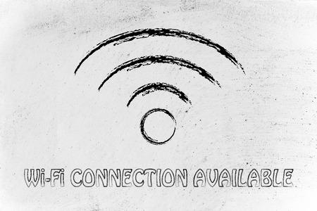 Internet- Und WLAN-Verbindung, Das Symbol Der Wi-Fi-Konnektivität ...