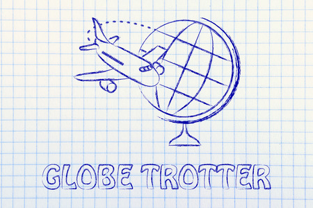 globe and airplane flying: concept of booking holidays and the travel industry