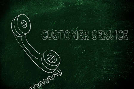 customer service and after sale support, funny phone illustration illustration
