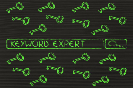 to keyword: search bar with funny keys, researching about keyword experts
