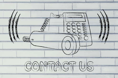 ringing: customer service and after sale support, funny ringing phone design