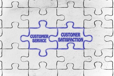 matching: matching jigsaw puzzle pieces metaphor: customer service & customer satisfaction