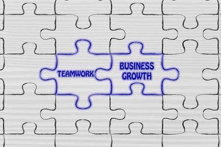 matching: matching jigsaw puzzle pieces metaphor: teamwork & business growth