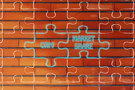 market share: matching jigsaw puzzle pieces metaphor: customer relationship management & market share