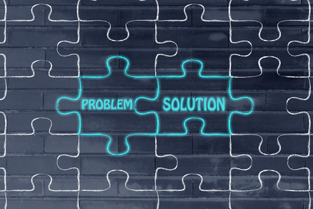 matching: matching jigsaw puzzle pieces metaphor: problem & solution