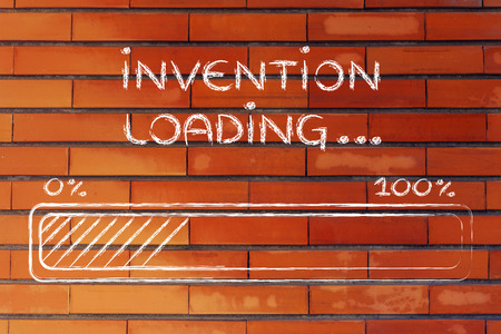 progress bar, funny design with concept of invention loading photo